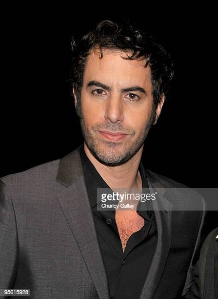 Actor/director Sacha Baron Cohen poses backstage during the People's Choice Awards 2010 held at Nokia Theatre LA Live on January 6 2010 in Los...