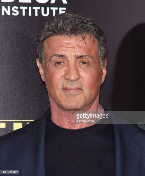 Actor/director Sylvester Stallone attends the 'Grudge Match' screening benifiting the Tribeca Film Insititute at Ziegfeld Theater on December 16 2013...