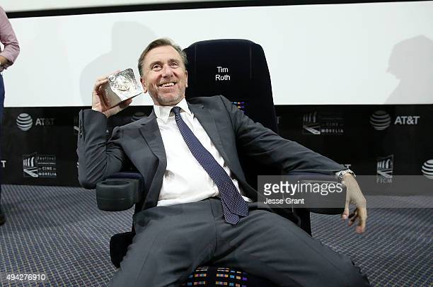 Actor/director Tim Roth honored at The 13th Annual Morelia International Film Festival on October 25 2015 in Morelia Mexico
