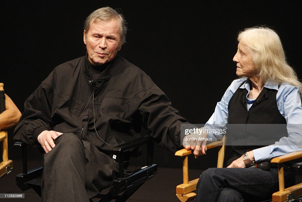 Actor/director Tom Laughlin (L) and actress Delores Taylor attend the 2009 Los Angeles Film Festival's HD restored 'Billy Jack' screening sponsored by People at the Billy Wilder Theater at The Hammer Museum June 21, 2009 in Westwood, California.