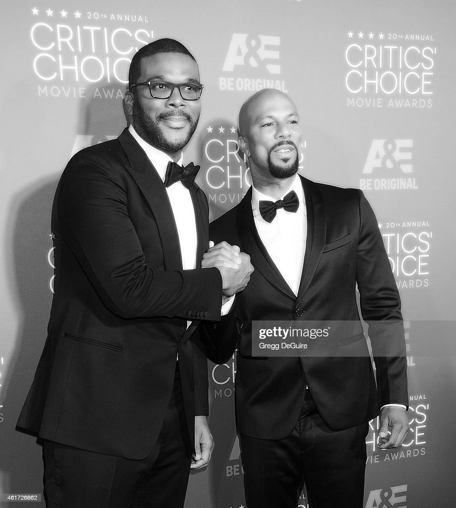 Actor/director Tyler Perry and recording artist Common arrive at the 20th Annual Critics' Choice Movie Awards at Hollywood Palladium on January 15...