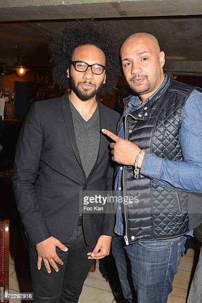 05 Actor/director Yassine Azzouz and comedian Kamel Laadaili attend the 'Guru' Screening Party at Commune Image Studio on May 5 2015 in Saint Ouen...