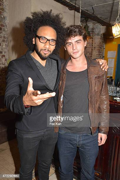 05 Actor/director Yassine Azzouz and comedian Pierre Perrier attend the 'Guru' Screening Party at Commune Image Studio on May 5 2015 in Saint Ouen...