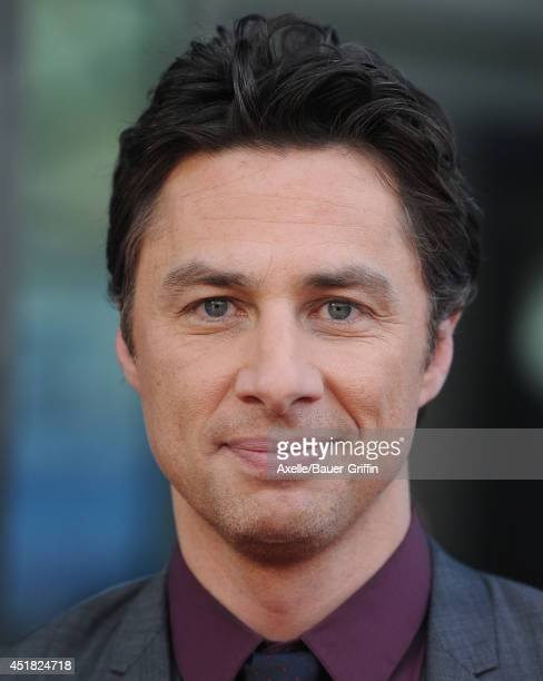 Actor/director Zach Braff arrives at the Los Angeles Premiere 'Wish I Was Here' at the DGA Theater on June 23 2014 in Los Angeles California