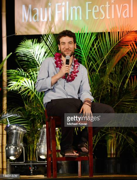 Actor/Director/Producer Josh Radnor participates in a QA at the 2012 Maui Film Festival at the Celestial Cinema on June 13 2012 in Wailea Hawaii