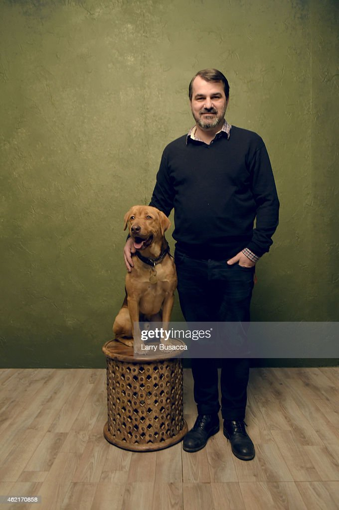 Actor/director/writer Kornel Mundruczo and Hagen of 'White God' pose for a portrait at the Village at the Lift Presented by McDonald's McCafe during...
