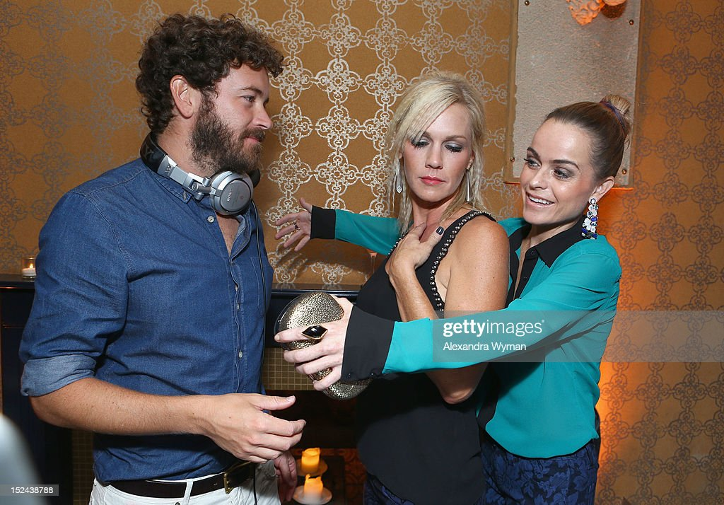 Actor/DJ <a gi-track='captionPersonalityLinkClicked' href=/galleries/search?phrase=Danny+Masterson&family=editorial&specificpeople=239512 ng-click='$event.stopPropagation()'>Danny Masterson</a> and actors <a gi-track='captionPersonalityLinkClicked' href=/galleries/search?phrase=Jennie+Garth&family=editorial&specificpeople=210841 ng-click='$event.stopPropagation()'>Jennie Garth</a> and <a gi-track='captionPersonalityLinkClicked' href=/galleries/search?phrase=Taryn+Manning&family=editorial&specificpeople=202146 ng-click='$event.stopPropagation()'>Taryn Manning</a> attend People StyleWatch Hollywood Denim Party at Palihouse on September 20, 2012 in Santa Monica, California.