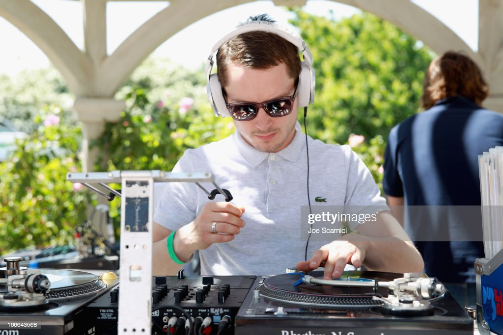 Actor/DJ <a gi-track='captionPersonalityLinkClicked' href=/galleries/search?phrase=Elijah+Wood&family=editorial&specificpeople=171364 ng-click='$event.stopPropagation()'>Elijah Wood</a> performs at LACOSTE L!VE 4th Annual Desert Pool Party on April 14, 2013 in Thermal, California.