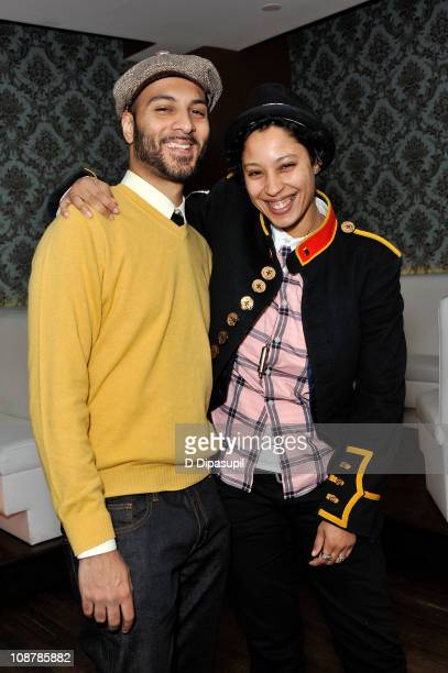 Actor/DJ Lohrasp Kansara and actress Kisha Batista attend the 'Blue Bloods' screening party at Chelsea Manor on February 2 2011 in New York City