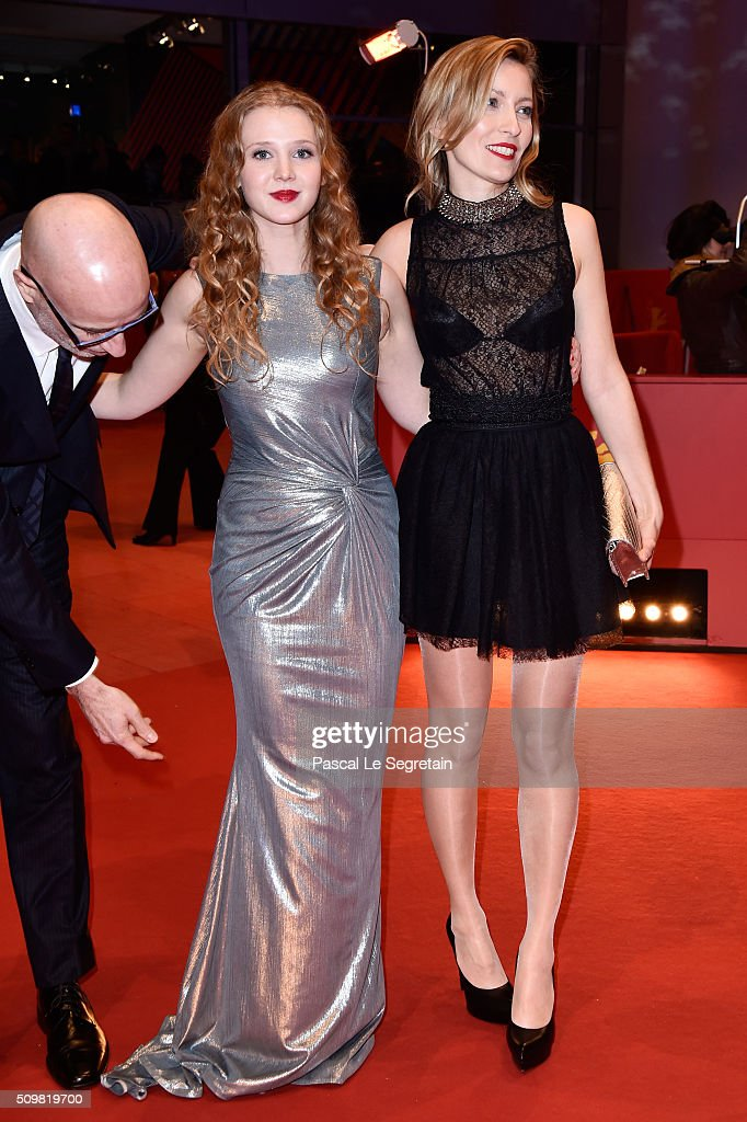 Actores James Hyndman, Isolda Dychauk and Dounia Sichov attend the 'Boris without Beatrice' (Boris sans Beatrice) premiere during the 66th Berlinale International Film Festival Berlin at Berlinale Palace on February 12, 2016 in Berlin, Germany.