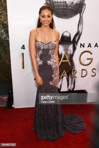 Actoress Amber Stevens West attends the 48th NAACP Image Awards at Pasadena Civic Auditorium on February 11 2017 in Pasadena California