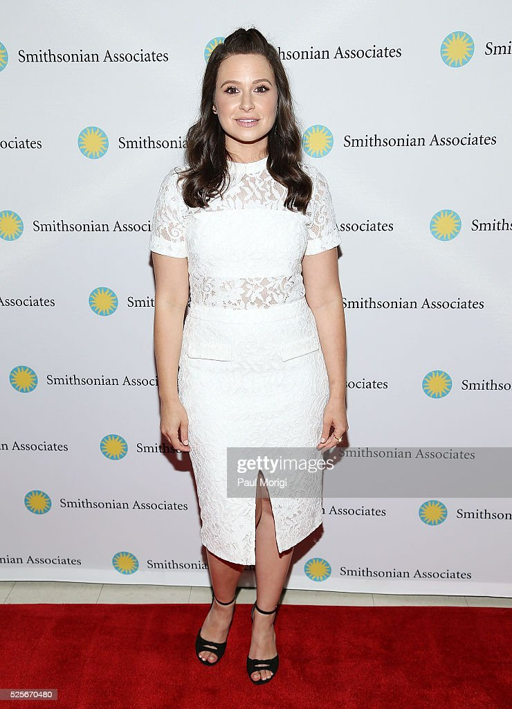 Actoress Katie Lowes attends the Smithsonian Associates's 'Scandal-ous!' discussion with the cast and executive producers of ABC's 'Scandal' at the University of District of Columbia Theater of the Arts on April 28, 2016 in Washington, DC.