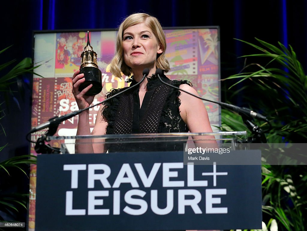 Actoress Rosamund Pike receives the Virtuosos Award at the 30th Santa Barbara International Film Festival at the Arlington Theater on February 1 2015...