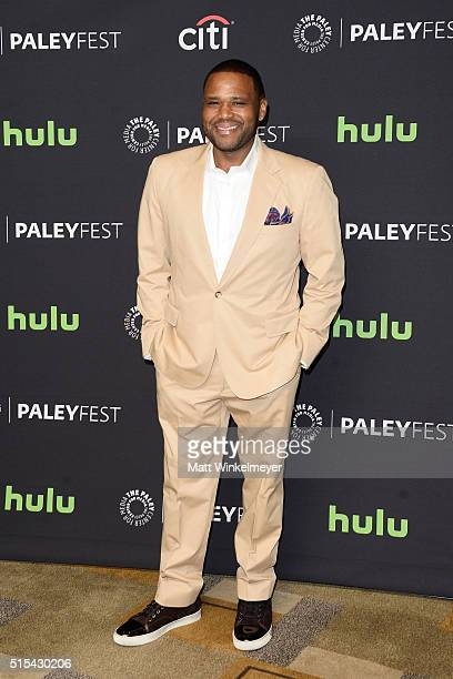 Actor/Executive Producer Anthony Anderson arrives at The Paley Center For Media's 33rd Annual PALEYFEST Los Angeles ÒBlackish' at Dolby Theatre on...