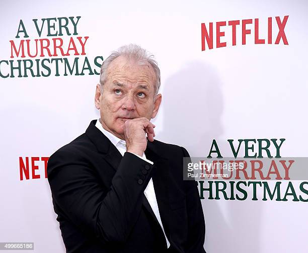 Actor/Executive Producer Bill Murray attends 'A Very Murray Christmas' New York premiere at Paris Theater on December 2 2015 in New York City