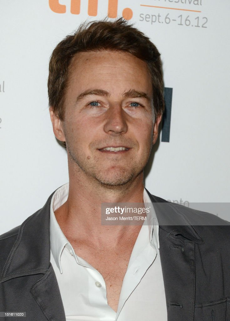 Actor/Executive Producer <a gi-track='captionPersonalityLinkClicked' href=/galleries/search?phrase=Edward+Norton&family=editorial&specificpeople=210580 ng-click='$event.stopPropagation()'>Edward Norton</a> attends the 'Thanks For Sharing' premiere during the 2012 Toronto International Film Festival at Ryerson Theatre on September 8, 2012 in Toronto, Canada.