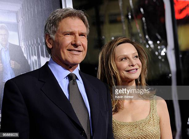 Actor/executive producer Harrison Ford and fiancee Calista Flockhart arrive at the premiere of CBS Films' 'Extraordinary Measures' at the Chinese...