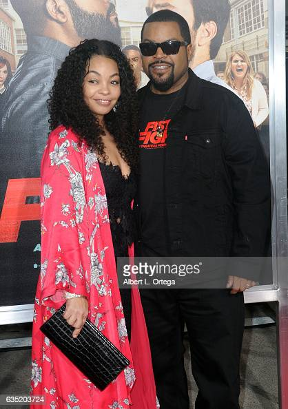Actor/Executive Producer Ice Cube and wife Kimberly Woodruff arrive for the Premiere Of Warner Bros Pictures' 'Fist Fight' held at Regency Village...