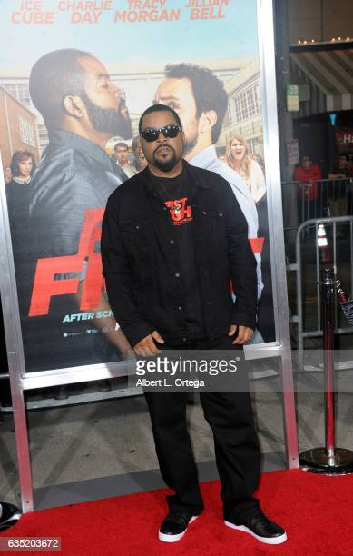 Actor/Executive Producer Ice Cube arrives for the Premiere Of Warner Bros Pictures' 'Fist Fight' held at Regency Village Theatre on February 13 2017...