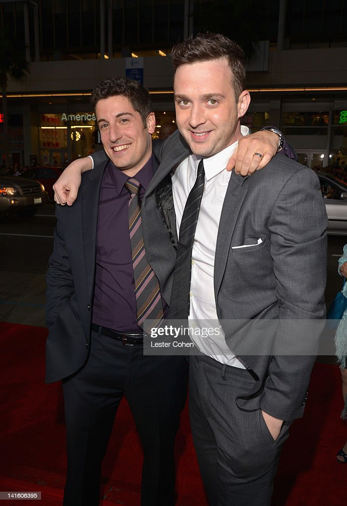 Actor/Executive Producer Jason Biggs and actor Eddie Kaye Thomas arrive at the 'American Reunion' Los Angeles Premiere March 19 2012 in Hollywood...