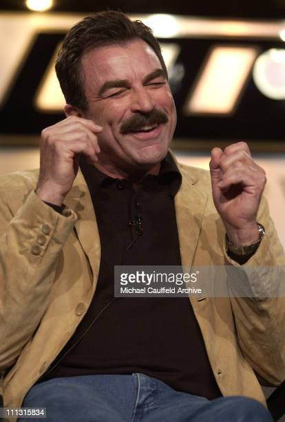 Actor/executive producer Tom Selleck during The 2003 National Cable Telecommunications Assn Press Tour Turner Broadcasting 'Monte Walsh' at The...