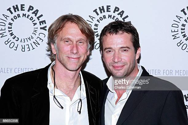 Actor/executive producer/director Peter Horton and actor James Purefoy attend the premiere of NBC's 'The Philanthropist' at The Paley Center for...