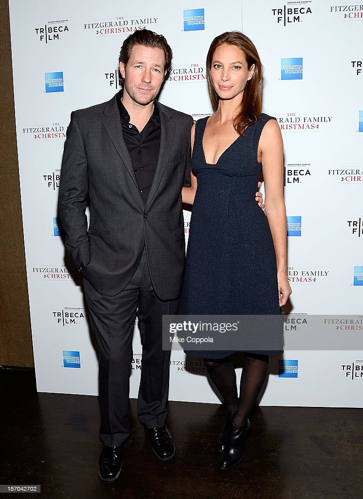 Actor/film producer Edward Burns and model Christy Turlington attends Tribeca Film's Special New York Screening Of 'The Fitzgerald Family Christmas' at Tribeca Grand Hotel on November 27, 2012 in New York City.