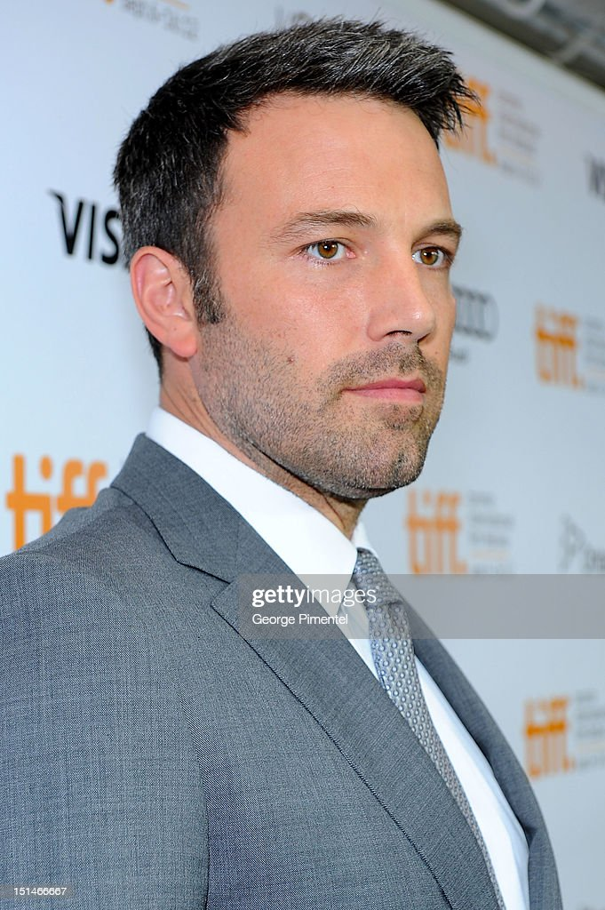 Actor/Filmmaker <a gi-track='captionPersonalityLinkClicked' href=/galleries/search?phrase=Ben+Affleck&family=editorial&specificpeople=201856 ng-click='$event.stopPropagation()'>Ben Affleck</a> attends the 'Argo' premiere during the 2012 Toronto International Film Festival at Roy Thomson Hall on September 7, 2012 in Toronto, Canada.