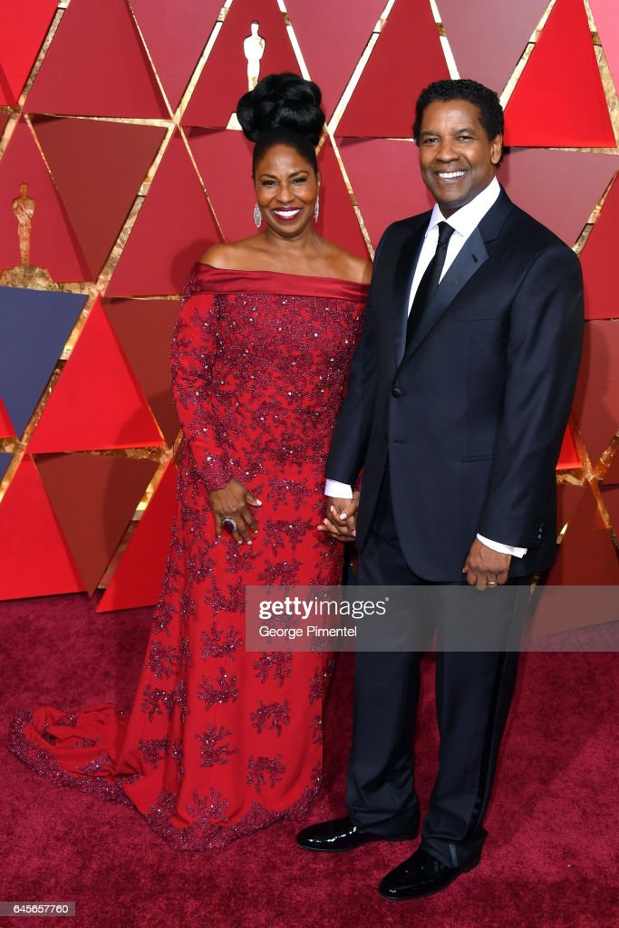 Actor/filmmaker Denzel Washington (R) and Pauletta Washington attend the 89th Annual Academy Awards at Hollywood & Highland Center on February 26, 2017 in Hollywood, California.