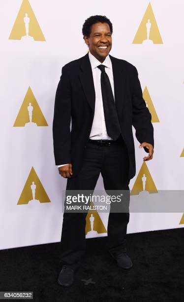 Actor/filmmaker Denzel Washington arrives for the 89th Annual Academy Awards Nominee Luncheon at The Beverly Hilton Hotel in Beverly Hills California...