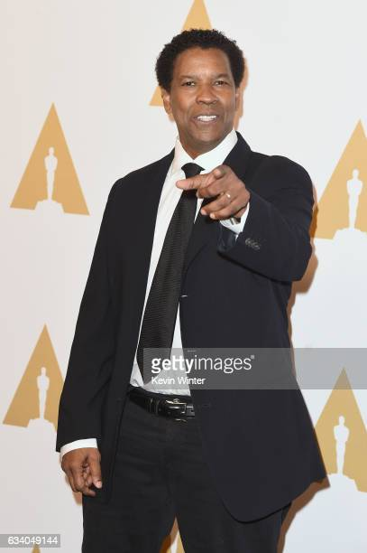 Actor/filmmaker Denzel Washington attends the 89th Annual Academy Awards Nominee Luncheon at The Beverly Hilton Hotel on February 6 2017 in Beverly...