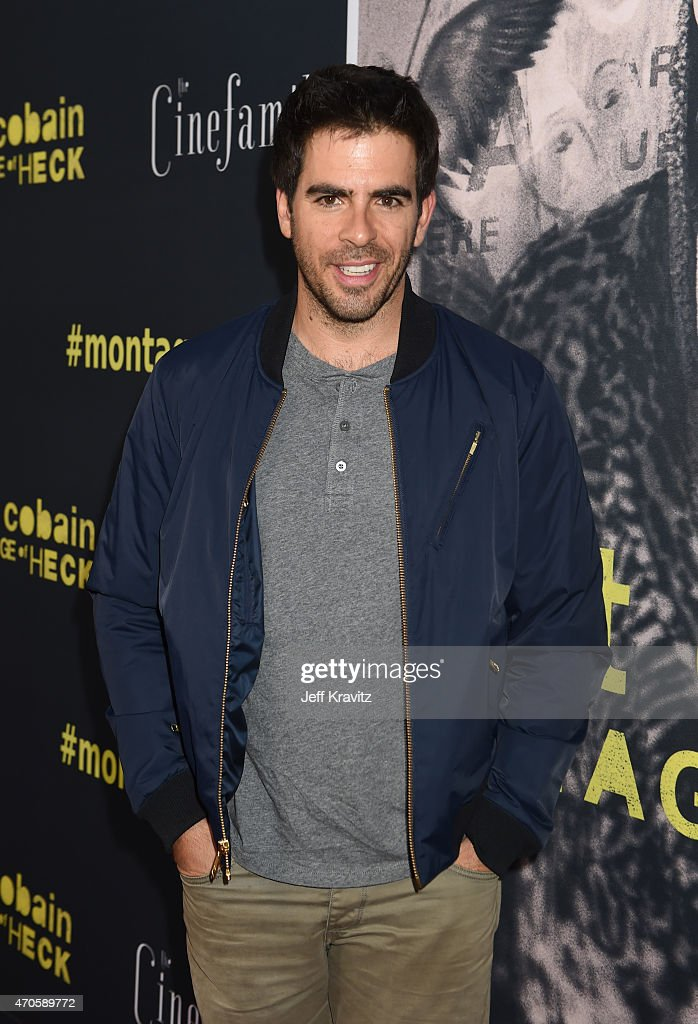 Actor/Filmmaker Eli Roth attends HBO's 'Kurt Cobain: Montage Of Heck' Los Angeles Premiere at the Egyptian Theatre on April 21, 2015 in Hollywood, California.