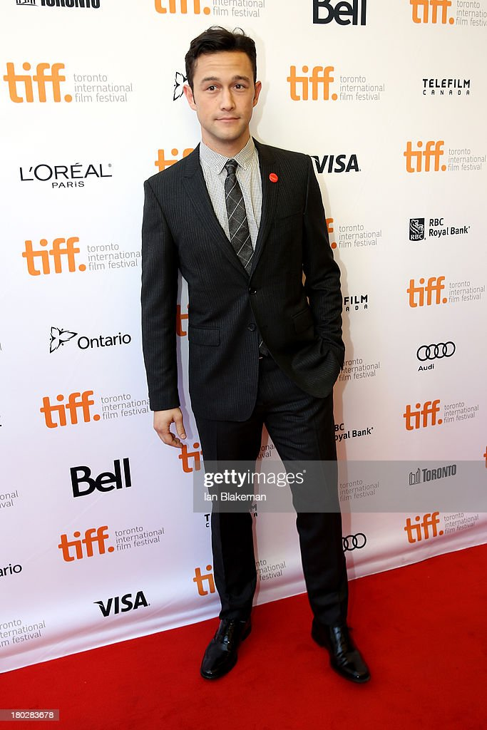 Actor/filmmaker Joseph Gordon-Levitt arrives at the 'Don Jon' Premiere during the 2013 Toronto International Film Festival at Princess of Wales Theatre on September 10, 2013 in Toronto, Canada. (Photo by Ian Blakeman/WireImage).