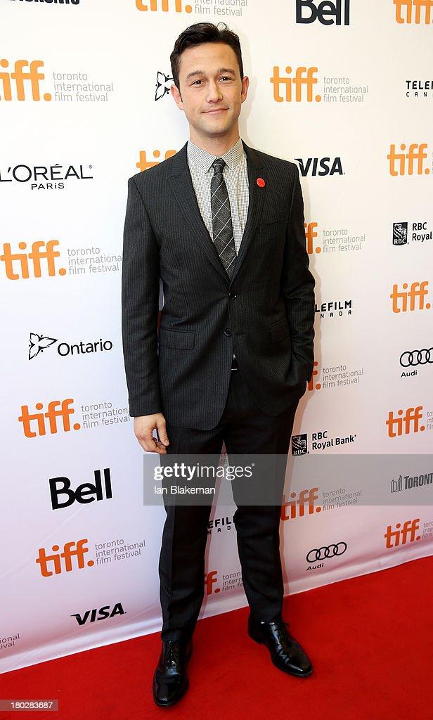 Actor/filmmaker Joseph Gordon-Levitt arrives at the 'Don Jon' Premiere during the 2013 Toronto International Film Festival at Princess of Wales Theatre on September 10, 2013 in Toronto, Canada. (Photo by Ian Blakeman/WireImage).