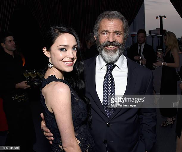 Actor/filmmaker Mel Gibson and Rosalind Ross attend The 22nd Annual Critics' Choice Awards at Barker Hangar on December 11 2016 in Santa Monica...