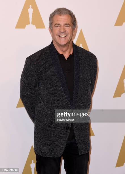 Actor/filmmaker Mel Gibson attends the 89th Annual Academy Awards Nominee Luncheon at The Beverly Hilton Hotel on February 6 2017 in Beverly Hills...