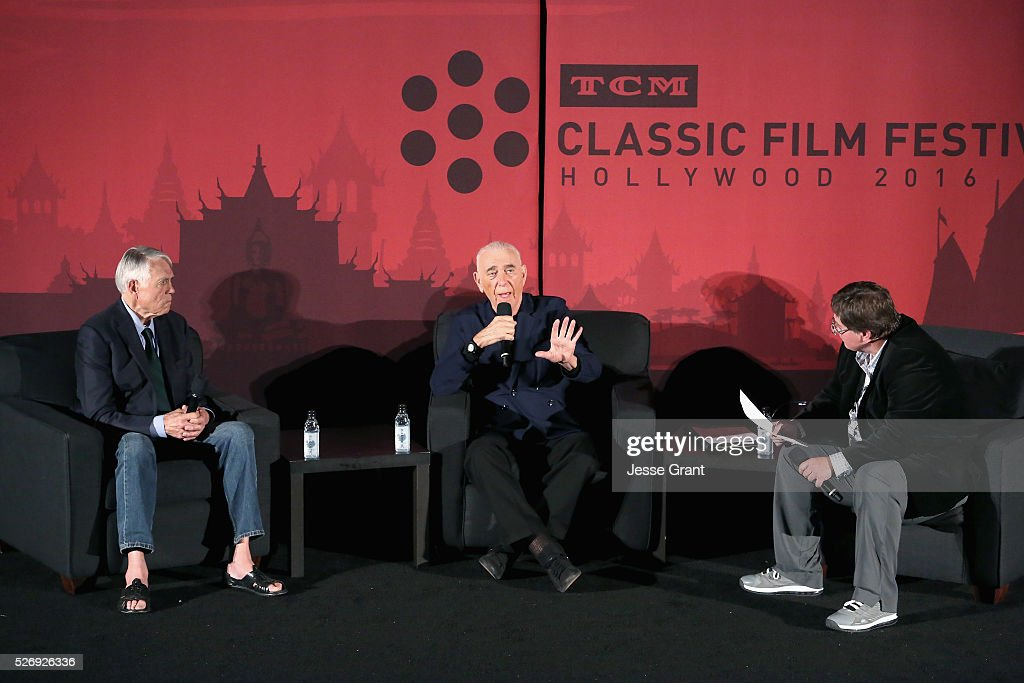 Actor/former NFL player Joe Kapp, producer Al Ruddy and journalist Randy Williams speak onstage at 'The Longest Yard' screening during day 4 of the TCM Classic Film Festival 2016 on May 1, 2016 in Los Angeles, California. 25826_009