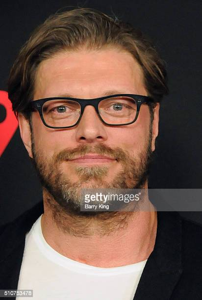 Actor/former WWE wrestler Adam 'Edge' Copeland attends the Premiere of Open Road's 'Triple 9' at Regal Cinemas LA Live on February 16 2016 in Los...