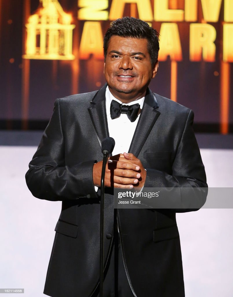 Actor<a gi-track='captionPersonalityLinkClicked' href=/galleries/search?phrase=George+Lopez&family=editorial&specificpeople=202546 ng-click='$event.stopPropagation()'>George Lopez</a> onstage at the 2012 NCLR ALMA Awards at Pasadena Civic Auditorium on September 16, 2012 in Pasadena, California.