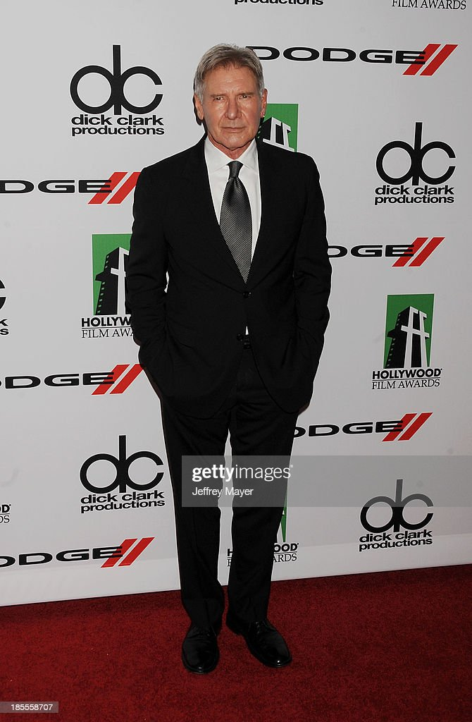 Actor/honoree Harrison Ford arrives at the 17th Annual Hollywood Film Awards at The Beverly Hilton Hotel on October 21, 2013 in Beverly Hills, California.