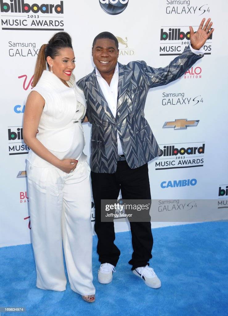 Actor/host <a gi-track='captionPersonalityLinkClicked' href=/galleries/search?phrase=Tracy+Morgan&family=editorial&specificpeople=182428 ng-click='$event.stopPropagation()'>Tracy Morgan</a> and Megan Wollover arrive at the 2013 Billboard Music Awards at the MGM Grand Garden Arena on May 19, 2013 in Las Vegas, Nevada.