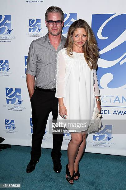 Actor/husband and wife Eric Dane and Rebecca Gayheart attend the 2014 Angel Awards at Project Angel Food on September 6 2014 in Los Angeles California