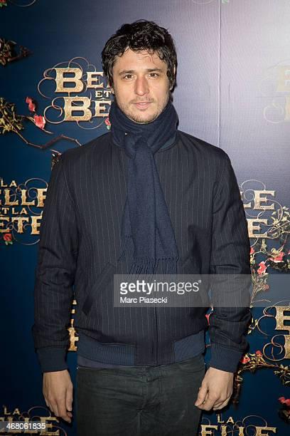 ActorJeremie Elkaim attends the 'La Belle la bete' Paris Premiere at Gaumont Opera on February 9 2014 in Paris France