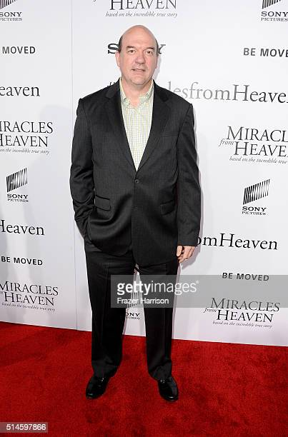 ActorJohn Carroll Lynch arrives at the Premiere of Columbia Pictures' 'Miracles From Heaven' at ArcLight Hollywood on March 9 2016 in Hollywood...