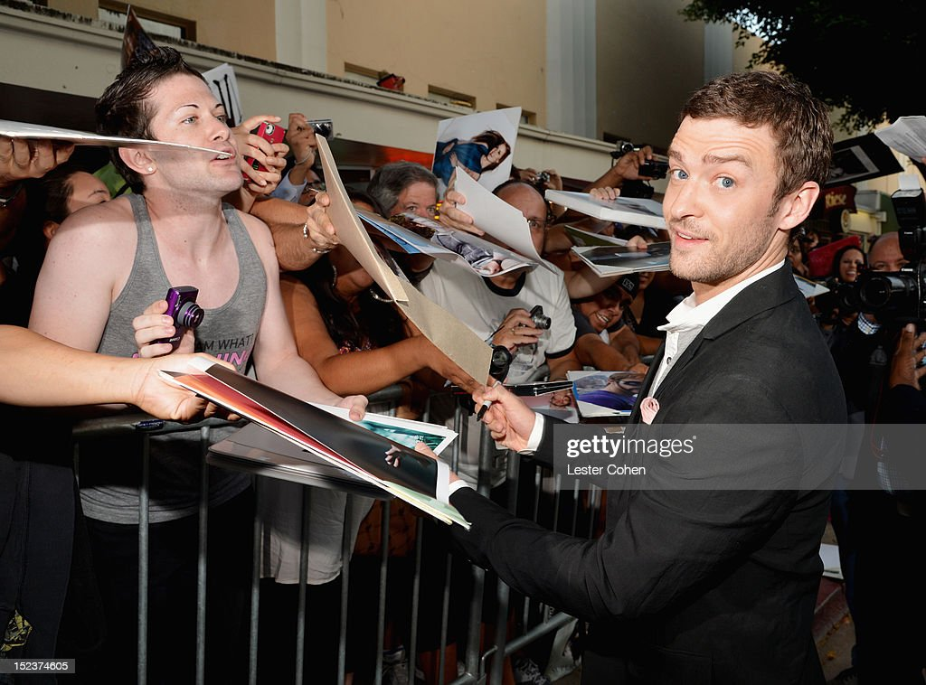 ActorJustin Timberlake arrives at the 'Trouble With The Curve' Premiere at Mann's Village Theatre on September 19, 2012 in Westwood, California.