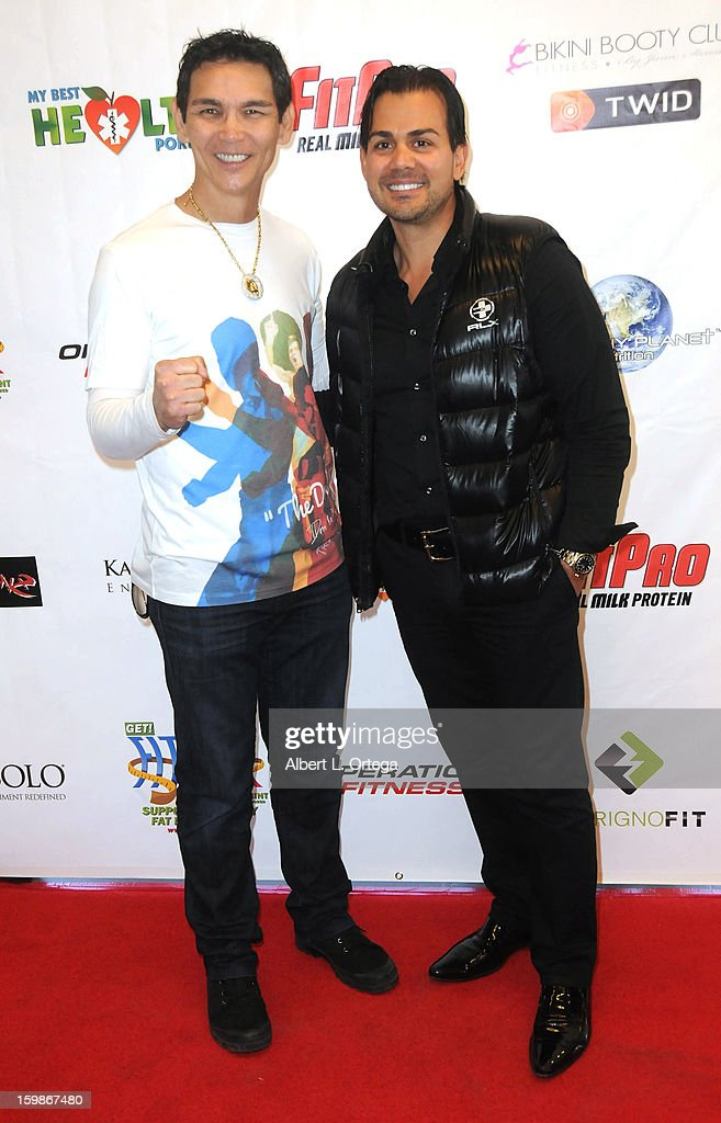 Actor/martial artist Don 'The Dragon' Wilson and life coach Ron Kardashian participate in the Red Carpet Health Expo held at The Vitamin Shoppe on January 12, 2013 in Los Angeles, California.