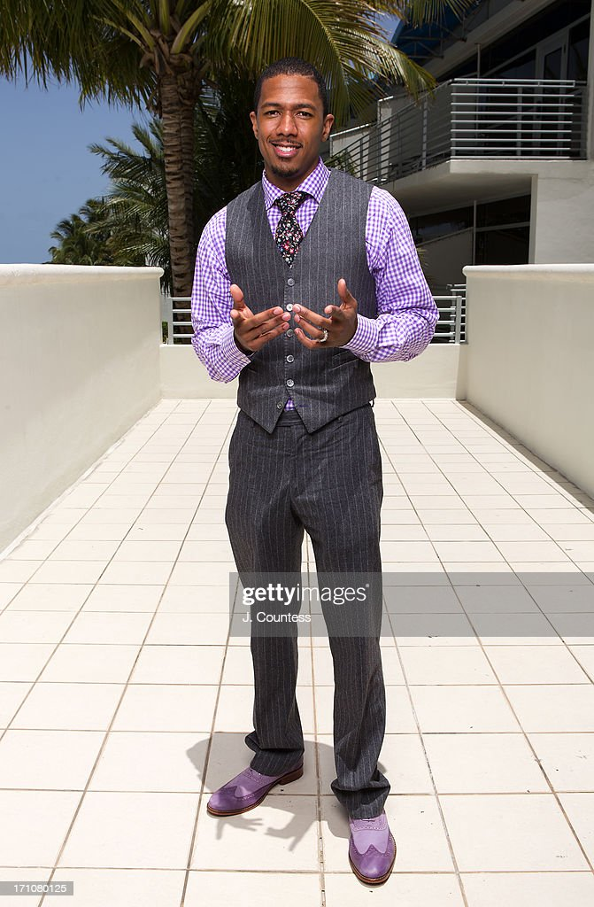 Actor/media personality <a gi-track='captionPersonalityLinkClicked' href=/galleries/search?phrase=Nick+Cannon&family=editorial&specificpeople=202208 ng-click='$event.stopPropagation()'>Nick Cannon</a> poses during the 2013 American Black Film Festival on June 21, 2013 in Miami, Florida.