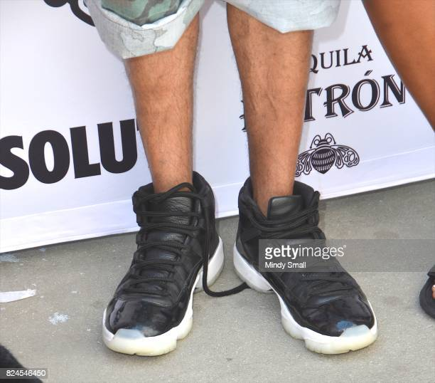 Actor/media personality Nick Cannon shoe detail arrives at the World Wildest Pool Party series at Planet Hollywood Resort Casino on July 30 2017 in...