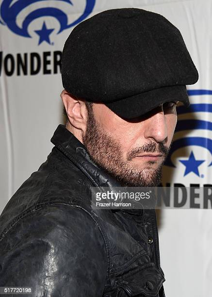 ActorMichael Eklund attends the Wynonna Earp panel at WonderCon 2016 Day 2 at Los Angeles Convention Center on March 26 2016 in Los Angeles California