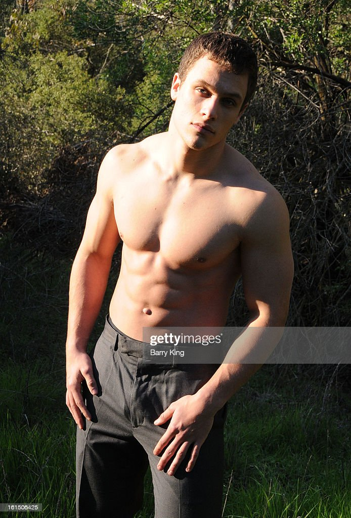 Actor/model Adam Wademan poses during a photo shoot on February 11, 2013 in Beverly Hills, California.